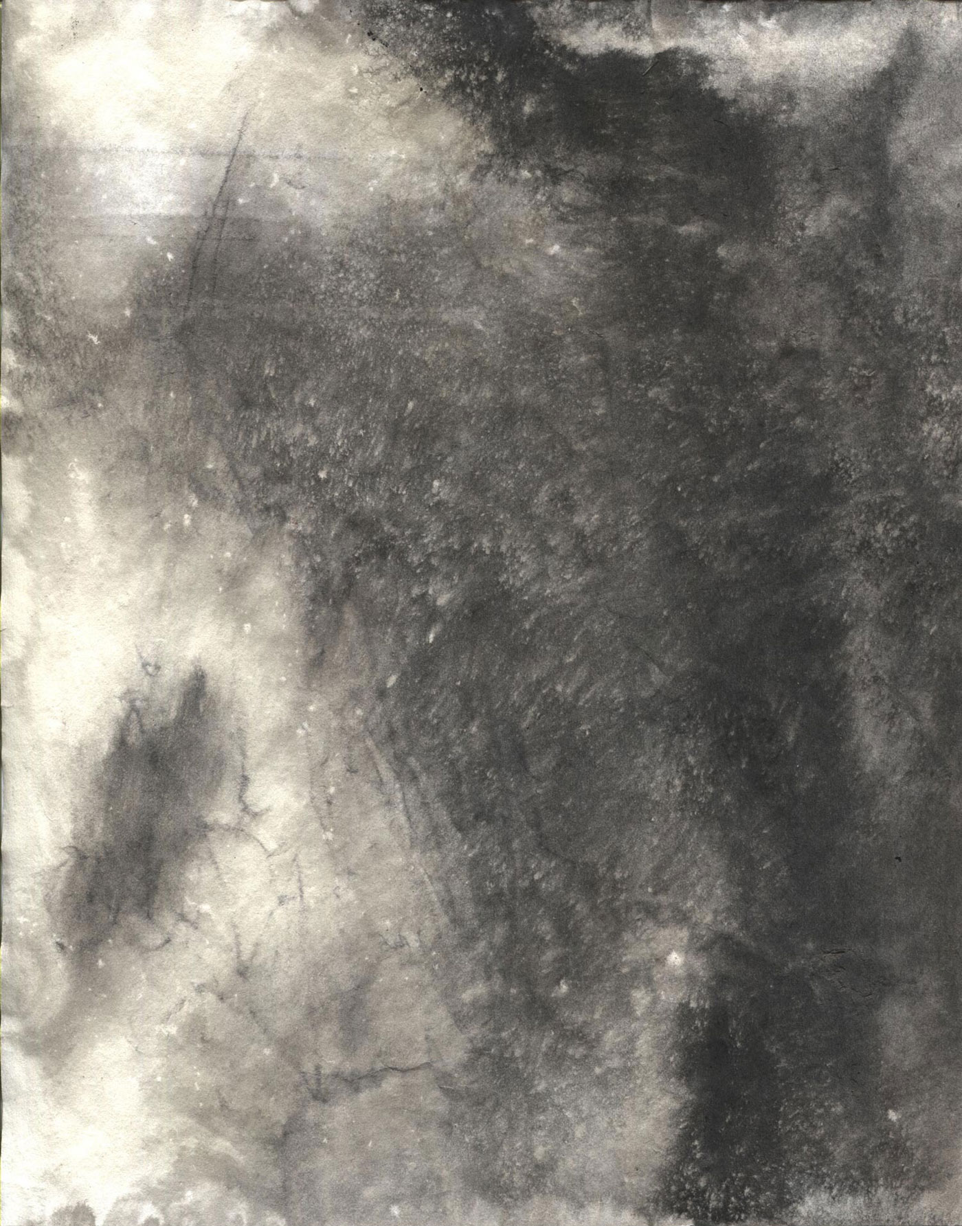 six sumi ink stained paper textures
