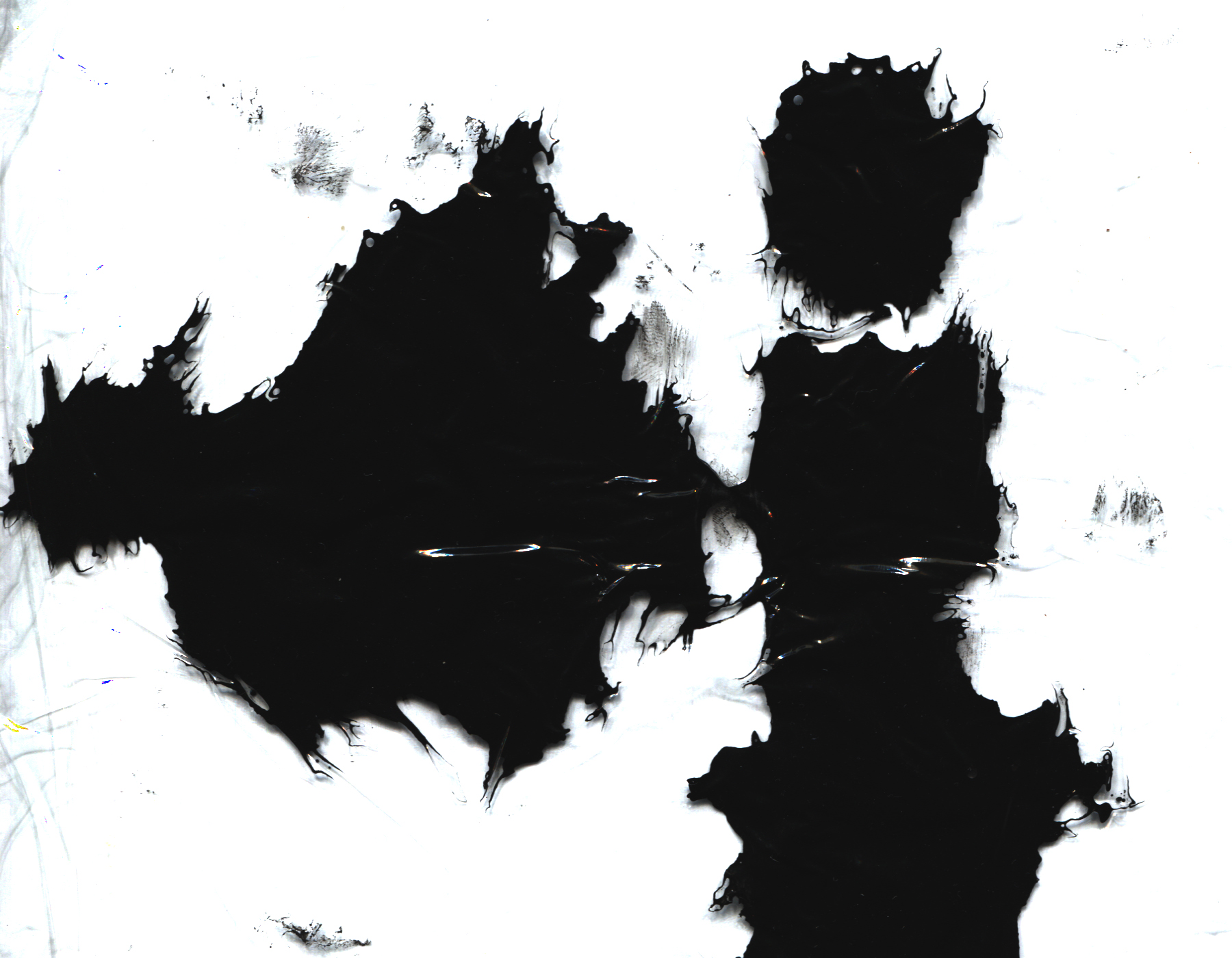 six experimental ink textures
