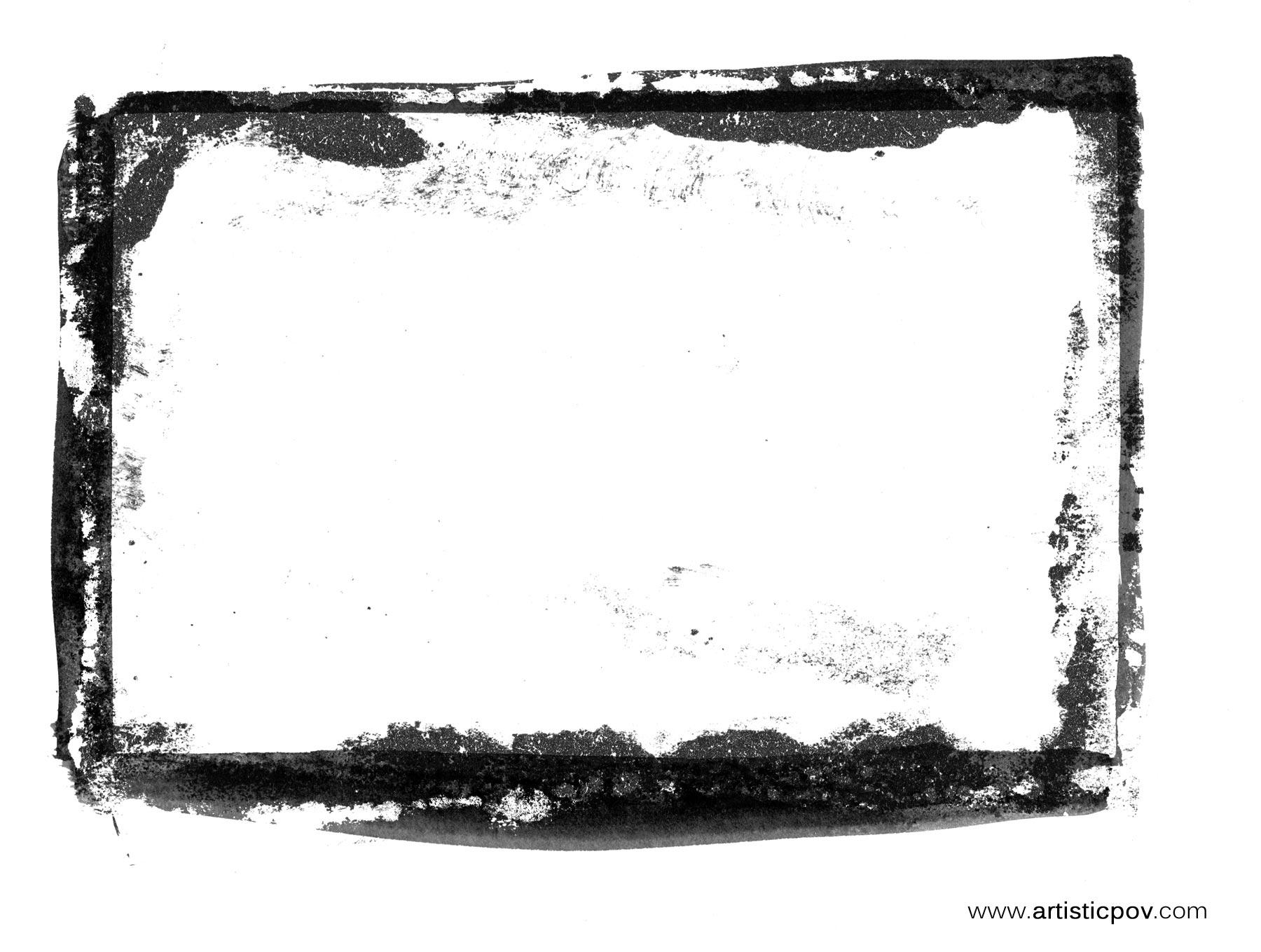 six grunge border textures artisticpov