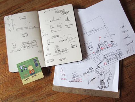 SketchbookExploringIdeas