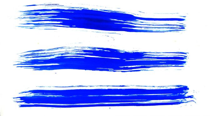 Blue Brush Stroke Streaks