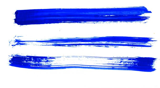 Blue Messy Brush Strokes