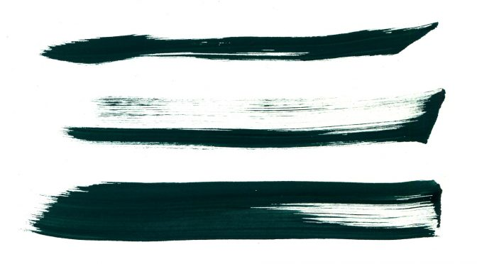 Green Grunge Brush Strokes