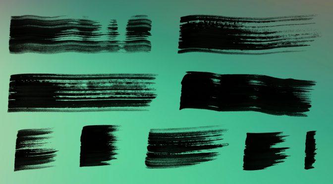 21 Grunge Wet Paint Brush Stroke Textures