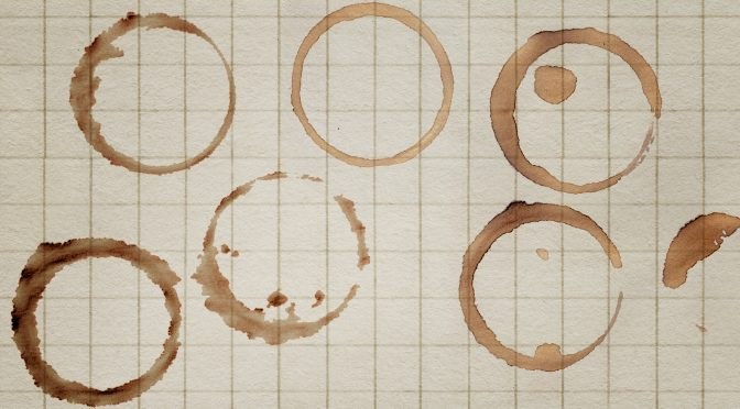 14 Coffee Cup Ring Stain Textures
