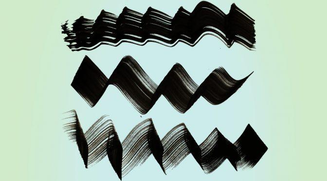 18 Free ZigZag & Wave Paint Brush Strokes