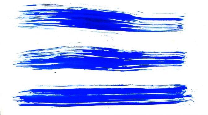 Blue Brush Stroke Streaks