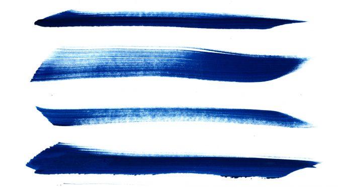 Blue Grunge Brush Strokes
