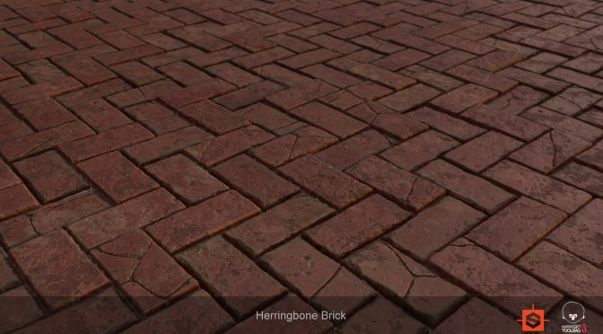 Free Herringbone Brick Texture